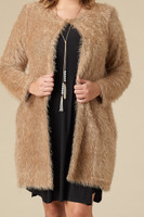 She Wolf Cardigan - Taupe