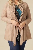 Darling Daring Ruffled Jacket - Taupe