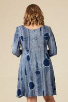 Work Hard, Play Hard Dress - Blue Print
