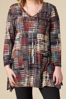 Always Ready Tunic  - Stripe Print