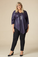 Girls Just Want to Have Fun Modern Top - Purple Faux Leather