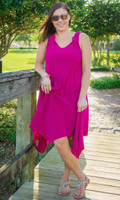 As Good as Gold Sleeveless Dress - Fushcia
