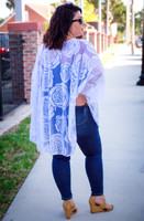 Sheer Bliss Poncho - White