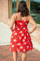 Living In The Moment Dress- Red