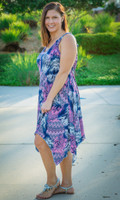 As Good as Gold Sleeveless Dress - Chevron Print