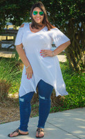 Copy of Coldest Shoulder Tunic - White