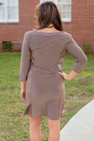 I Mean Business Dress - Taupe