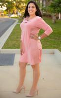I Mean Business Dress - Rosa
