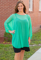 Sheer Bliss Poncho - Mint