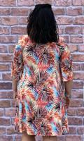 Take Me Away Dress-Coral Print