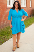 That's a Wrap Dress - Turquoise