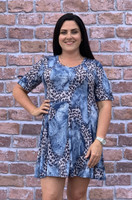 Pretty as a Picture Dress - Animal Print