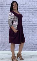 Go Figure Dress- Auburgine