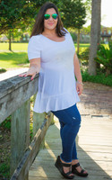 Catch Me If You Can Tunic- White