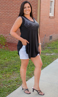 Chasing Dreams Tunic- Black
