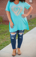 Catch Me If You Can Tunic- Aqua