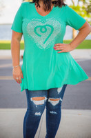 Catch Me If You Can Tunic- Mint