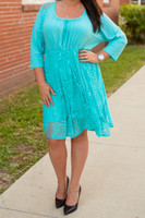 Cordially Invited Dress- Aqua