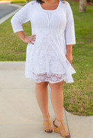 Cordially Invited Dress- White