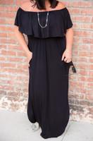 Divine Maxi Dress- Black