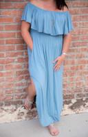 Divine Maxi Dress- Blue