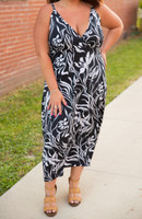 Drive You Crazy Dress- B&W Print