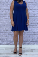 Feel The Beat Dress - Cobalt