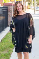 Sheer Bliss Poncho - Taupe Flower
