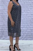 Simply The Best Dress- Chevron Print