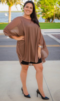 Sheer Bliss Poncho - Taupe