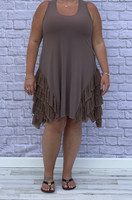 No Limits Dress - Taupe