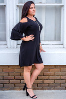 Make A Statement Dress- Black