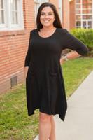 Get Noticed Dress- Black