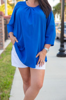 Love At First Sight Top- Blue