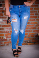 Light Blue Jeans - Cropped Image