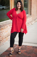 No more Questions Tunic -Red