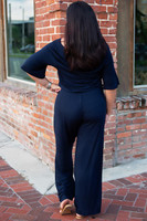 Jumping to Conclusions Jumpsuit - Navy
