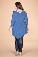 All I Could Wish For Tunic - Blue Denim Print