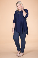 Say it Out Loud Tunic - Blue
