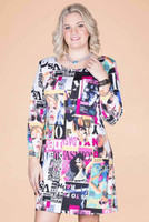 A Multi-Tasker, Just Like Me Dress - Magazine Print