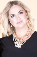 Pearl Charmed Layered Statement Necklace - Gold