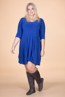 Swing Out Sister Dress - Cobalt Blue