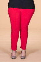 All Buttoned Up Legging - Red