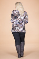 At Your Leisure Side Slit Top - Pink Spotted Camo