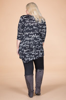 Say it Out Loud Tunic - Script Print