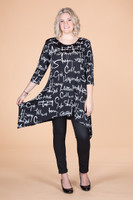 Your Best Foot Forward Tunic - Script Print