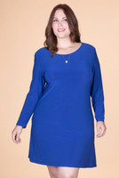A Multi-Tasker, Just Like Me Dress - Cobalt Blue