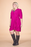That's a Wrap Dress - Light Fucshia