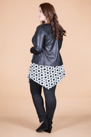 Get the Edge Seamed Moto Jacket - Black Faux Leather