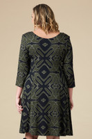 Work Hard, Play Hard Dress - Olive Print